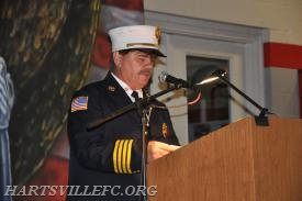 Deputy Chief Croak from the Warminster Fire Dept. reading some names of the fallen