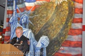 FF Tom McCool from the Bensalem Fire Dept. taking part in reading the names of the fallen.