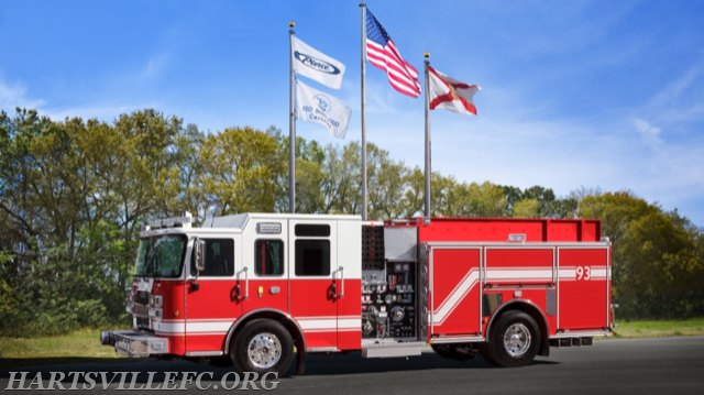 New Engine 93 before leaving the factory in florida