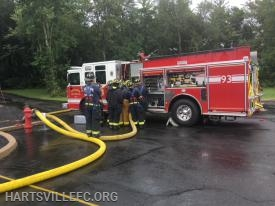 Members review proper discharge and intake pressure on the fire apparatus pumps