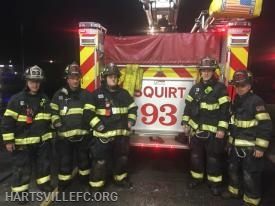 The first-in volunteer crew of Squirt 93